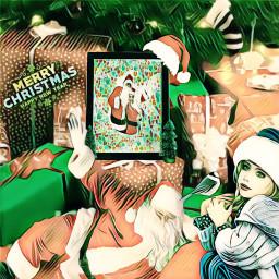 freetoedit greenmagiceffect badlandsmagiceffect ircchristmasframe christmasframe