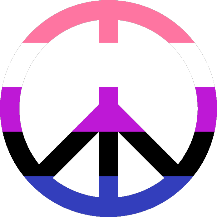 credit: pride-icons-for-all-the-queers on Tumblr #peacesign #lgbt+ #genderfluid #pride #lovewins #freetoedit