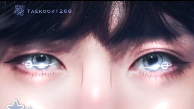 Taehyung Eye edit💛 (Read Description)   If any of you have tik tok and want to see some edits i do with my artwork then follow me on tik tok ——> mochi_kook1826        Shoutout:  @somewhereinthecrowd thank you for liking my last edit first💓