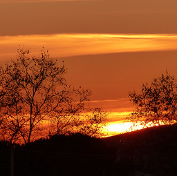sunset sunrise sun nature landscape