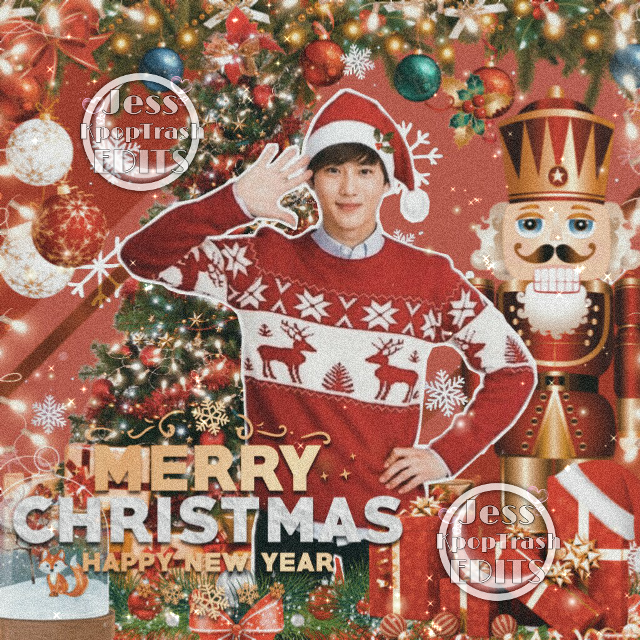 Your friendship and your love is the best Christmas gift that I've gotten. May the glow of the Christmas candles brighten your day. Have Yourself a Merry little Christmas 🎄🎉 I love y'all endlessly xoxo hugs 😙 😍 💖 🌸   #kpop #christmas #exo #kpopedits #suho #Kimjunmyeon
