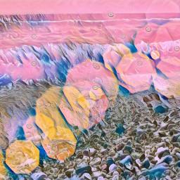 hallucination shore beach rockybeach colorful freetoedit