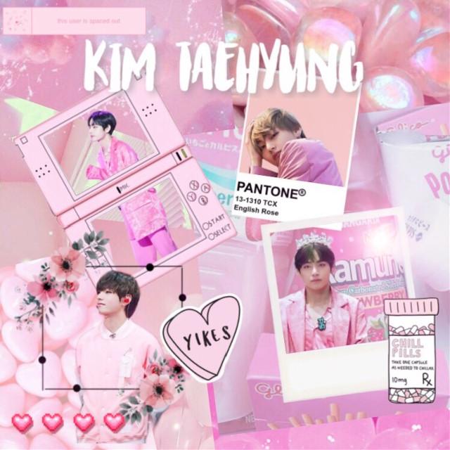 #freetoedit #pink #taehyung #cute #heart #pantone #flower #taetae #bts #bangtansonyeondan #bangtanboys