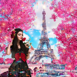 freetoedit paris girly art landscape