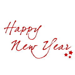 happynewyear newyear text calligraphy red freetoedit