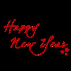 happynewyear newyear text calligraphy red freetoedit