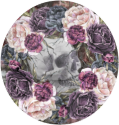 coolsticker grunge punk flowers skull freetoedit