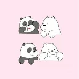 cute panda icebear we_bare_bears we