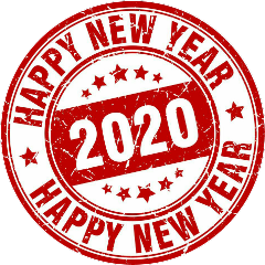 happynewyear 2020 red stamp freetoedit
