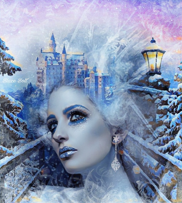 My last edit of the decade! It has been an awesome 4 years on Picsart and I look forward to see what kind of creativity my brain can come up with in 2020  #freetoedit #castle #fantasy #frostydaysmask #winterbluesmagiceffect #winter #ice #snow #blue #woman