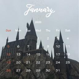srcjanuarycalendar januarycalendar hogwarts newyears mypic