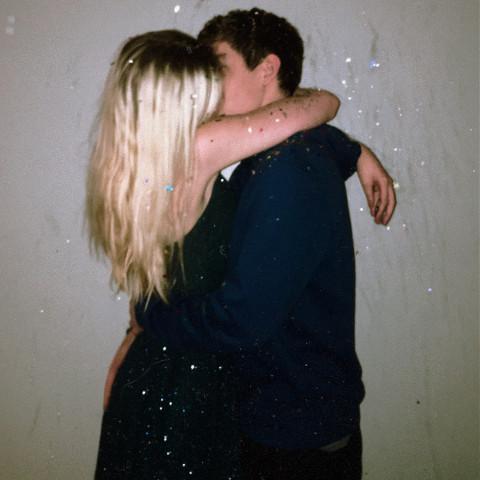 #couplegoals,#cute,#couple,#newyearskiss,#confetti,#pcnewyearnewme,#freetoedit