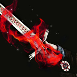 freetoedit magic fire sword man