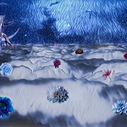 freetoedit flowers sky clouds fantasy