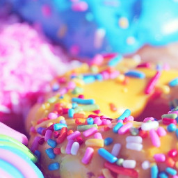 freetoedit donuts sweets colorful pink