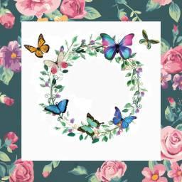 butterfly wreath freetoedit