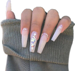 acrylic acrylicnails baddie nails outfit freetoedit