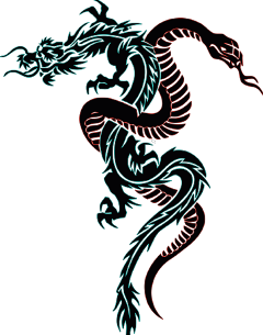 freetoedit snake dragon tattoo