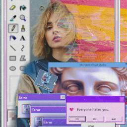 freetoedit vaporwave print computer