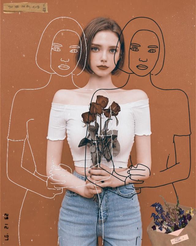 #freetoedit #anime #girl #girls #woman #people #flower #flowers #rose #roses #1994 #1994effect #sketch #sketcheffect #date #mood #vintage #grunge #paper #old #