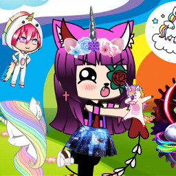 unicorn unicornio picsart kawaii freetoedit