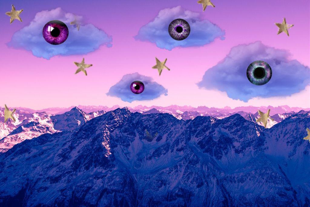 #freetoedit #aesthetic #sky #violet #vsco #eyes #Purple #cloud #nuage #ciel #background #arriereplan