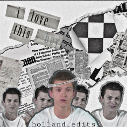 tomholland aesthetic newspaper halo