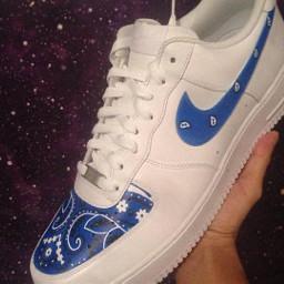 shoes dope crip blue bandana