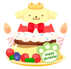 pompompurin happybirthday birthdaycake cake birthday freetoedit