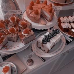 food aesthetic cake strawberry