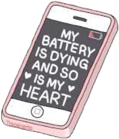 tumblr phone battery sad freetoedit