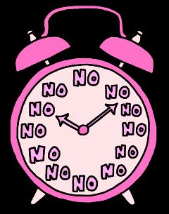 sleep alarm clock pink tumblr freetoedit