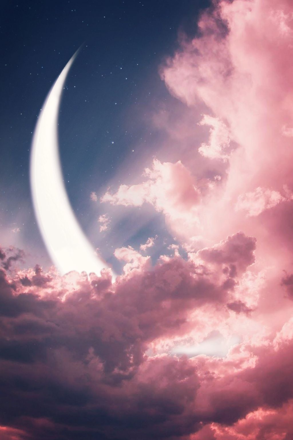 """""""aLwaYs RememBer We aRe unDer tHe SaMe SkY,LoOKinG aT tHe SaMe moOn.🌙""""   https://m.youtube.com/watch?v=fYg28dmBeyY . . . #blue #moon #sky #coulds #pinksky #relaxation #chill #dream #imagination #pink #madewithpicsart #moonlight #background #wallpaper  #freetoedit"""