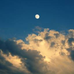 clouds sky moon background backgrounds freetoedit