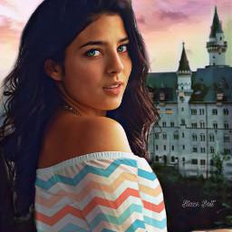 freetoedit castle fantasy floramagiceffect sunset srczigzagpattern