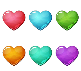 love heart multicolor iloveyou freetoedit