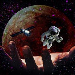 freetoedit space astronaut spaceremix spacestation ircuniverseinyourhand