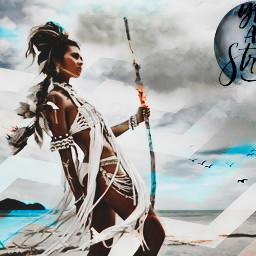 princess warriorwoman youarestrong youarebeautiful youareloved srczigzagpattern freetoedit