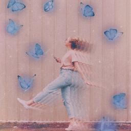 freetoedit interesting follow butterfly blue
