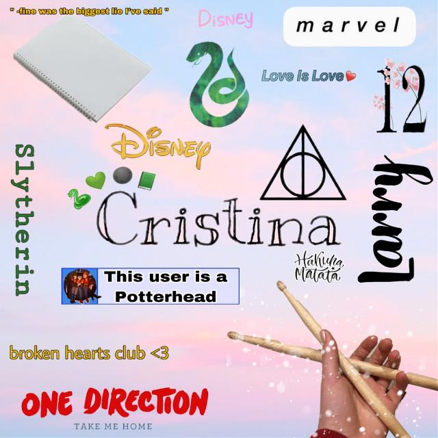 #freetoedit #cristina #drummergirl #directionerforever #directionersarestillalive #larrystylinson  #potterhead #slytherinpride #disneylove #marvelfan #brokenheartsclub #12years #drawingislife