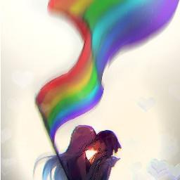 pride flag kiss girls lesbian freetoedit
