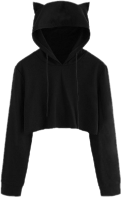 hoodie black cat clothes cloth freetoedit
