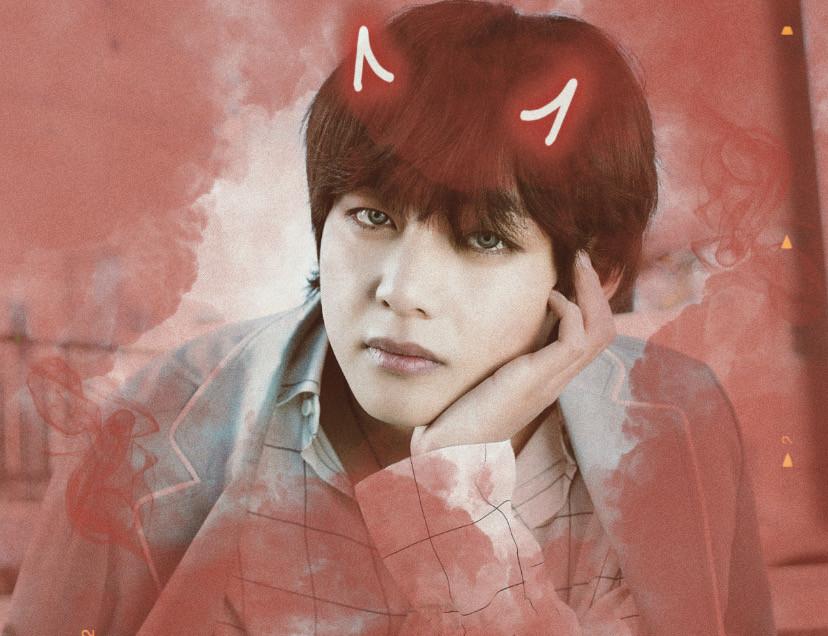 ❣️ Red devil smoke edit ❣️  #BTS #Bangtan #BTSV #Taehyung #V  Credit to - @dilaray1lmazz ~ Devil horn sticker @eam4u ~ Red smoke sticker