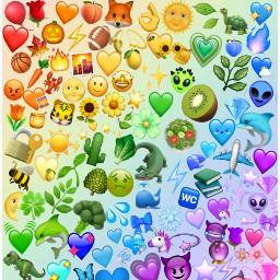 emojis emojibackground background rainbow emoji