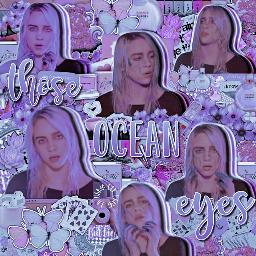 billieeilish edit oceaneyes purple billieeilishedit
