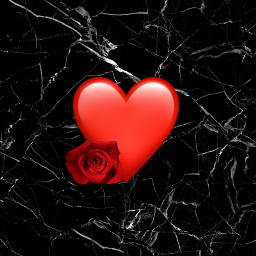 freetoedit heartemoji heart black rose
