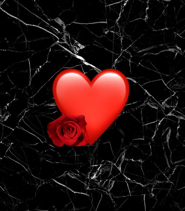 #freetoedit #heartemoji #heart #black #rose