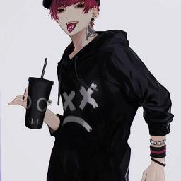 freetoedit animeboy black