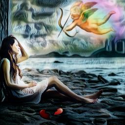freetoedit renaissance cupid angel beach ectherenaissance therenaissance