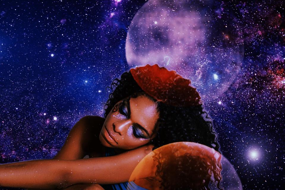 #stars #moon #woman #cool #galaxy #myart #mood #aesthetic #freetoedit
